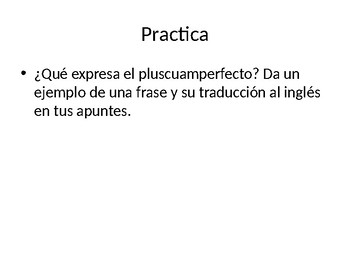 Spanish Past Perfect Powerpoint