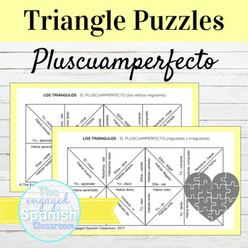 Spanish Past Perfect Puzzle: Reg + Irreg Verbs (El pluscua