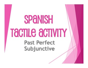 Spanish Past Perfect Subjunctive Tactile Activity