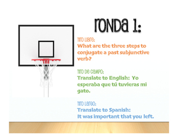 Spanish Past Subjunctive Basketball