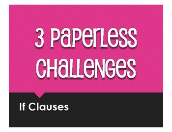 Spanish Past Subjunctive If Clause Paperless Challenges
