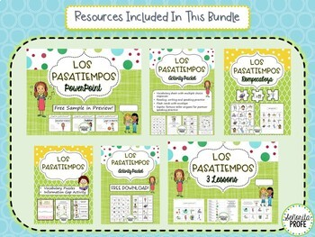 Spanish Pastime Activities Bundle