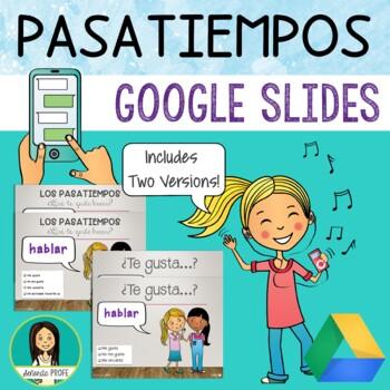 Los Pasatiempos / Spanish Pastime Activities PowerPoint