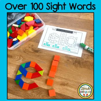 Spanish Pattern Block Literacy Bundle