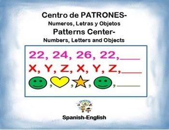 Spanish Math Patterns / Patrones de Números, Letras y Figuras in a Station /Ctr.