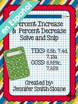 Spanish Percent Increase and Decrease Solve and Snip®
