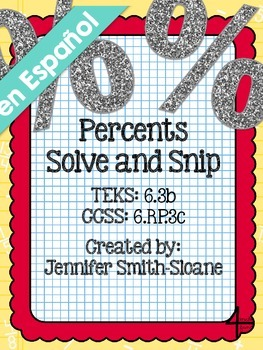 Spanish Percents Solve and Snip®