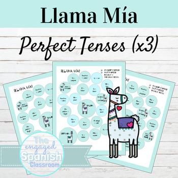 Spanish Perfect Tenses Llama Mía Speaking Activity SET OF 3