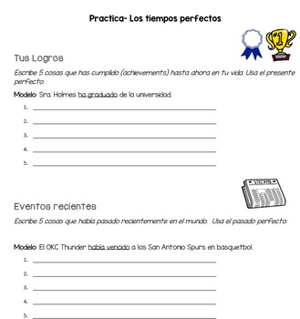 Spanish Perfect Tenses Practice