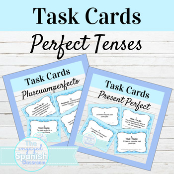 Spanish Perfect Tenses Task Card Bundle