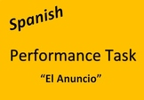Spanish Performance Task: TV Commercial / Radio Ad Project for Store Items