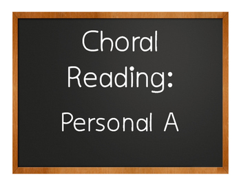 Spanish Personal A Choral Reading