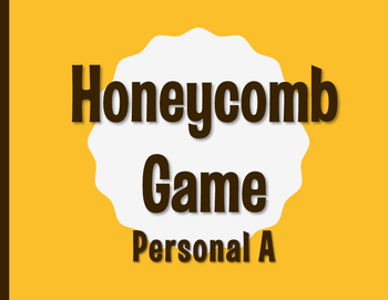 Spanish Personal A Honeycomb Partner Game