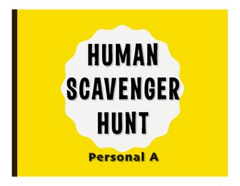 Spanish Personal A Human Scavenger Hunt