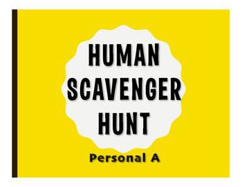 Spanish Personal A Human Scavenger Hunt