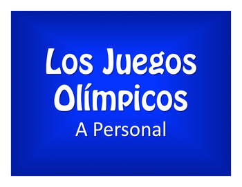 Spanish Personal A Olympics