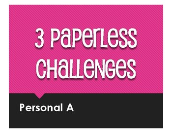 Spanish Personal A Paperless Challenges
