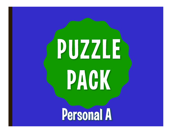 Spanish Personal A Puzzle Pack