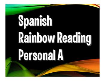 Spanish Personal A Rainbow Reading