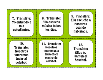 Spanish Personal A Task Cards