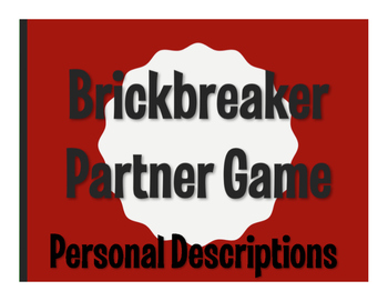 Spanish Personal Descriptions Brickbreaker Game