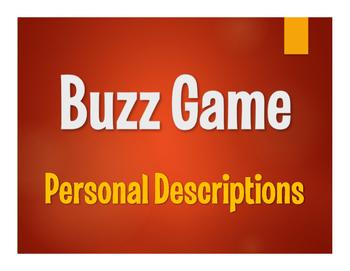 Spanish Personal Descriptions Buzz Game