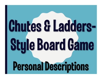 Spanish Personal Descriptions Chutes and Ladders-Style Game