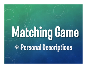 Spanish Personal Descriptions Matching Game