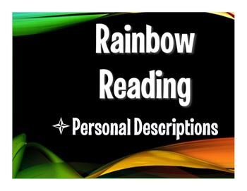 Spanish Personal Descriptions Rainbow Reading