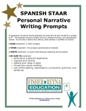 Spanish Personal Narrative  Writing Prompts Gr 3-5