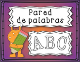 Spanish Personal Word Wall Book / Libro de Pared de Palabras