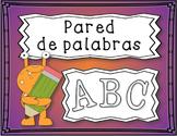 Spanish Personal Word Wall Book / Libro de Pared de Palabras