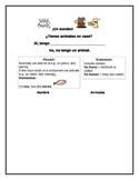 Spanish Teaching Resources. Animals/ Pets Survey Speaking Activity.