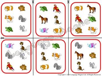 Spanish Pets Audio Sheet and Bingo Game