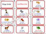 Spanish Pets Audio Sheet and Bingo Game