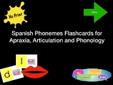 Spanish Phonemes Flashcards for  Apraxia, Articulation and