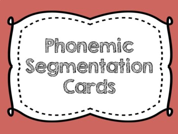 Spanish Phonemic Segmentation Cards