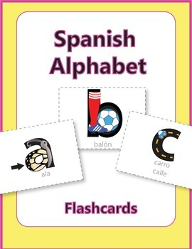 Spanish Phonetic Alphabet with Pictures Printable Mnemonic Flashcards
