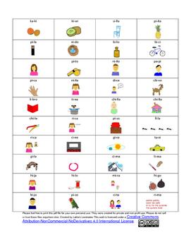 Spanish Phonics 2 syllables i words