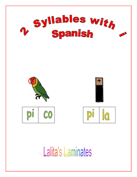 Spanish Phonics 2 syllables i words