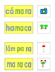 Spanish Phonics 3 syllable a word cards