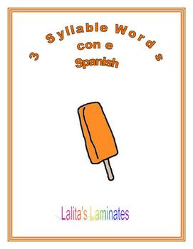 Spanish Phonics 3 syllables e words