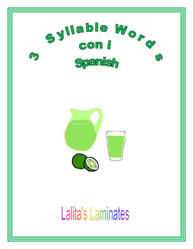 Spanish Phonics 3 syllables i words