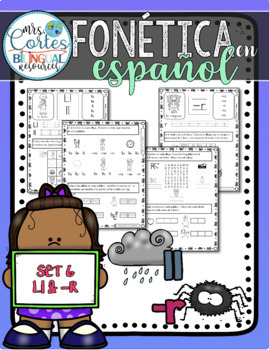 Spanish Phonics Book Set #6: Letras ll & -r