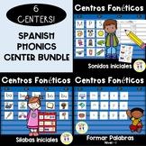 Spanish Phonics Center BUNDLE!  Centros FONETICOS