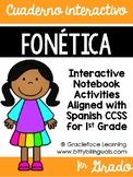 Spanish Phonics Interactive Notebook 1st Grade - Cuaderno interactivo fonética
