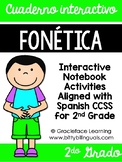 Spanish Phonics Interactive Notebook 2nd Grade - Cuaderno interactivo fonética