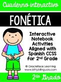 Spanish Phonics Interactive Notebook 2nd Grade - Cuaderno interactivo fonética