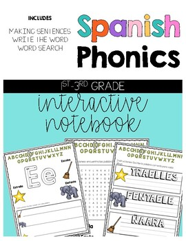 Spanish Phonics Interactive Notebook
