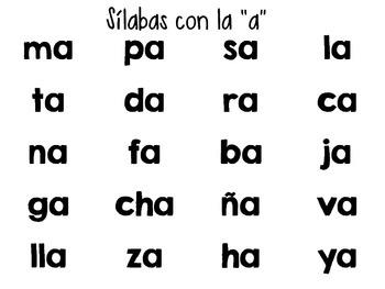 Spanish Phonics Poster